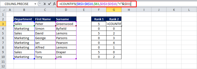 how to put two conditions with if in excel
