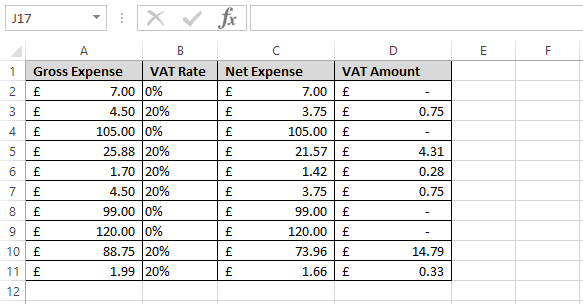 How to calculate vat in microsoft excel | other q&a formulas.